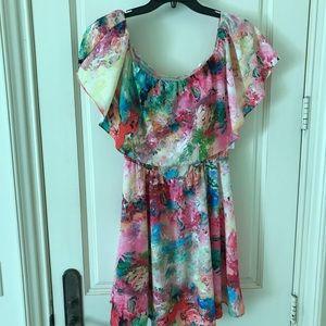 Amanda U. Floral Off the Shoulder Dress